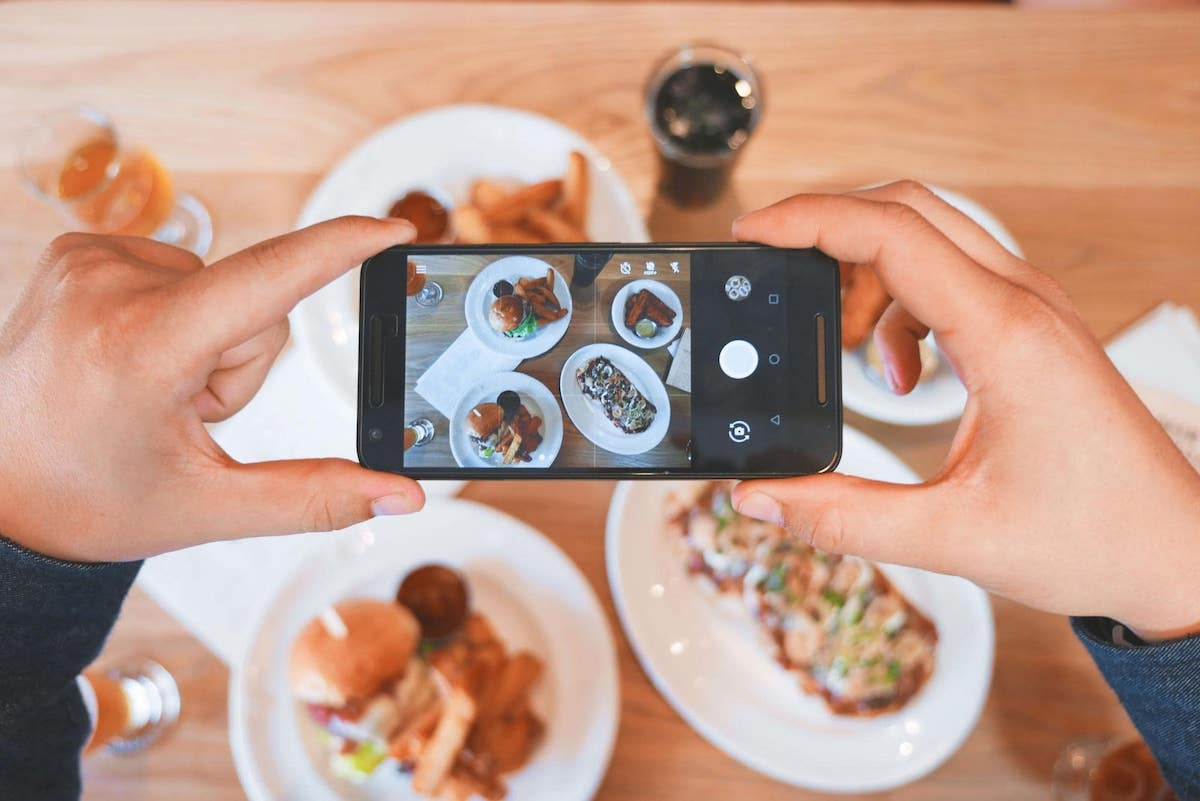Taking a Picture of Food for Social Media
