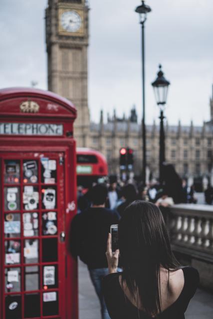 College girl in London