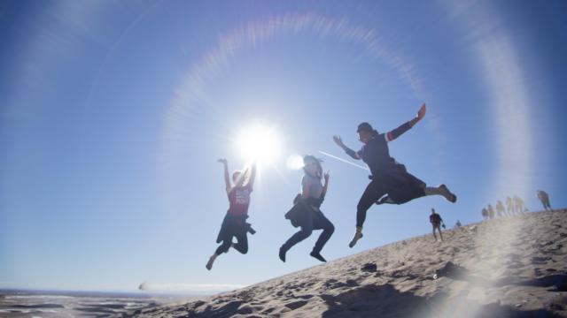 jumping travel fun
