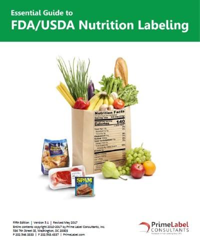 FDA/USDA Nutrition Labeling