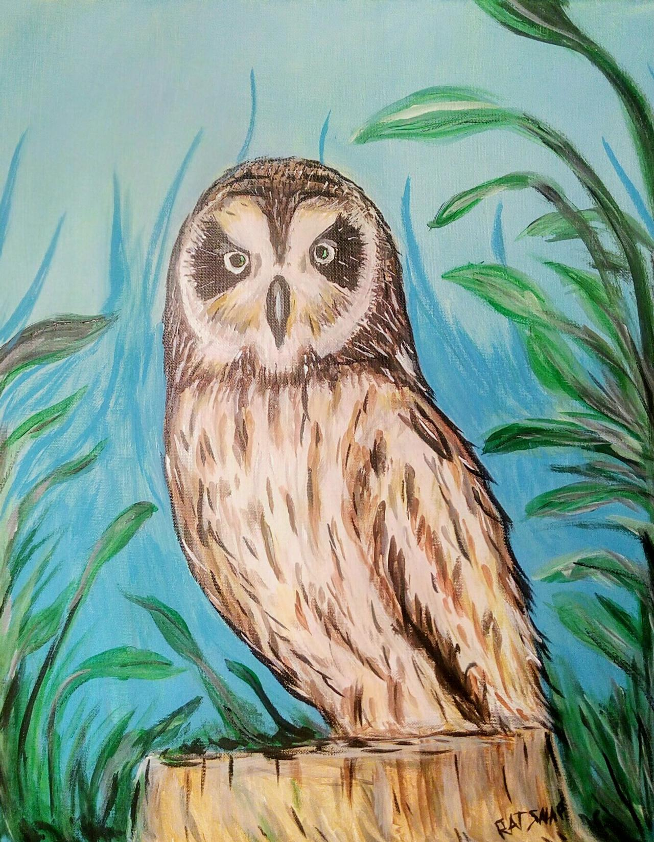 9/30/20 3:30-4:10 pm Fall Owl Drawing Class