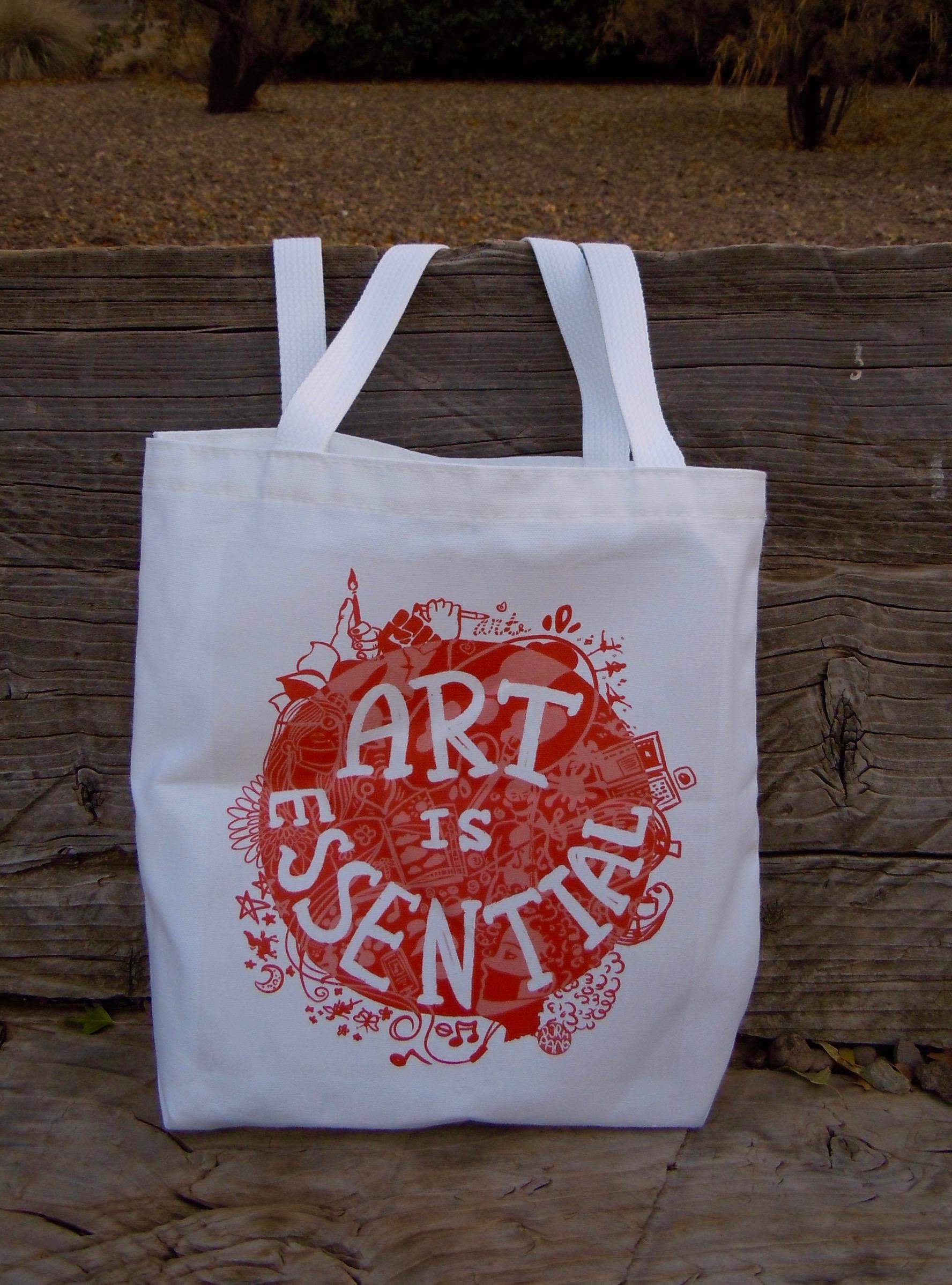 Art Is Essential tote bag