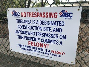 Felony Sign (ABC Member)