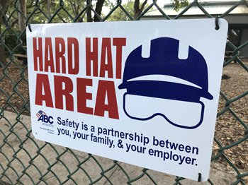 Hard Hat Sign (ABC Member)