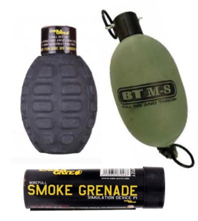 Grenades (Paint/Smoke)