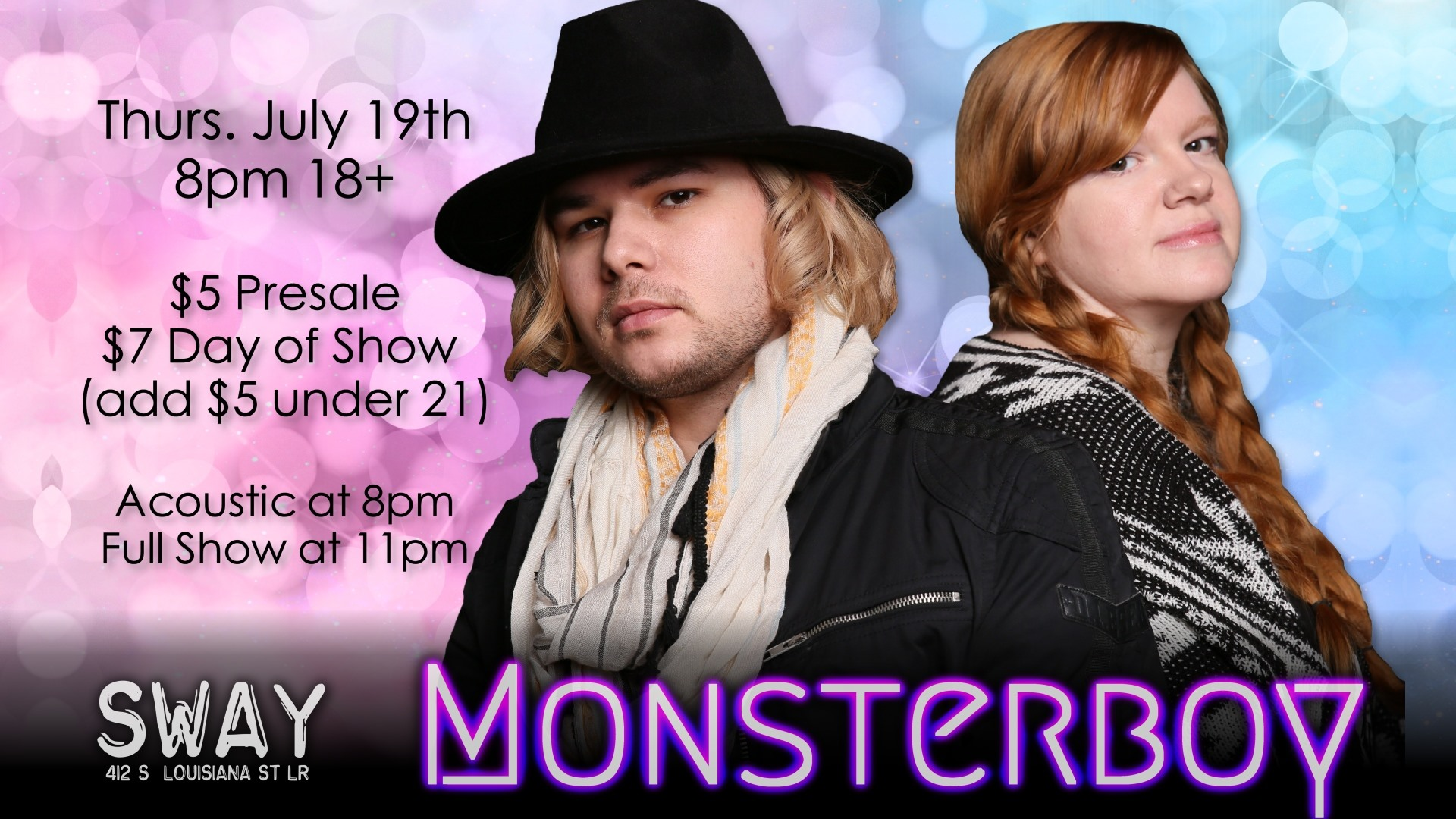 Live Music at Club Sway featuring Monsterboy