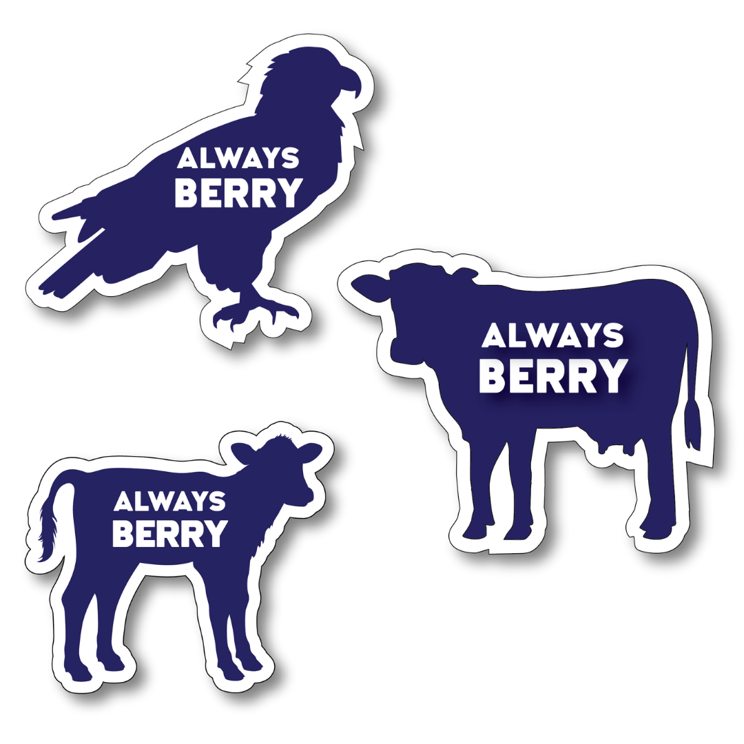 """Always Berry"" Animal Magnets"