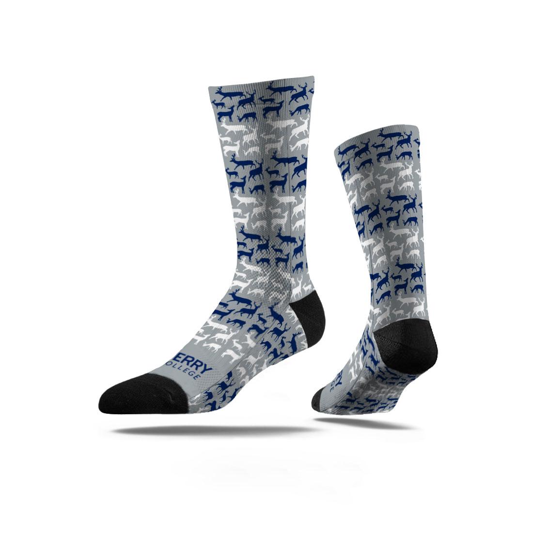 Berry Deer Socks