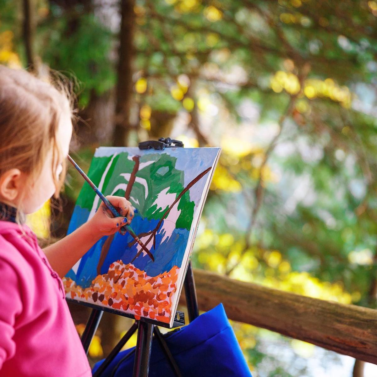 Splatter Art and Paint Outdoors! | Ages 5-10