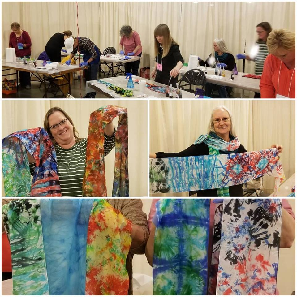 Easy Dye Silk Scarves with M Theresa Brown