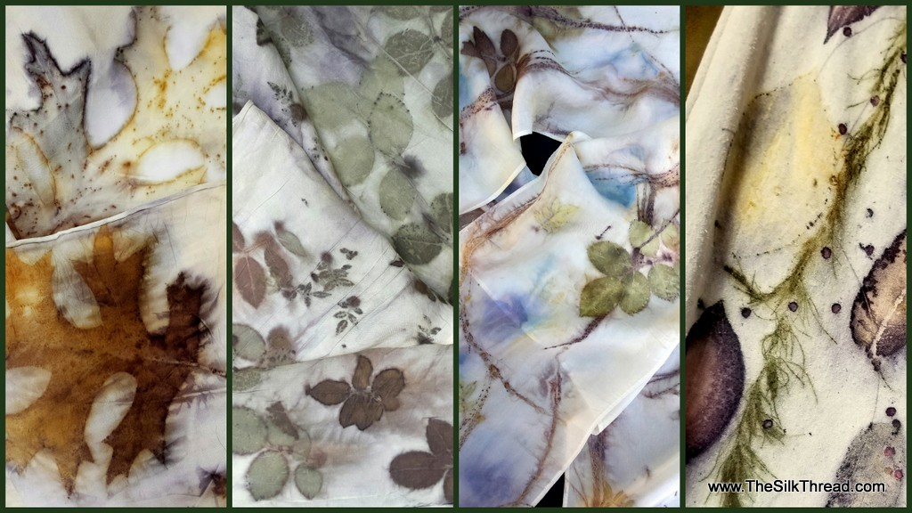 Ecoprinting on Silk and Wool with  M Theresa Brown
