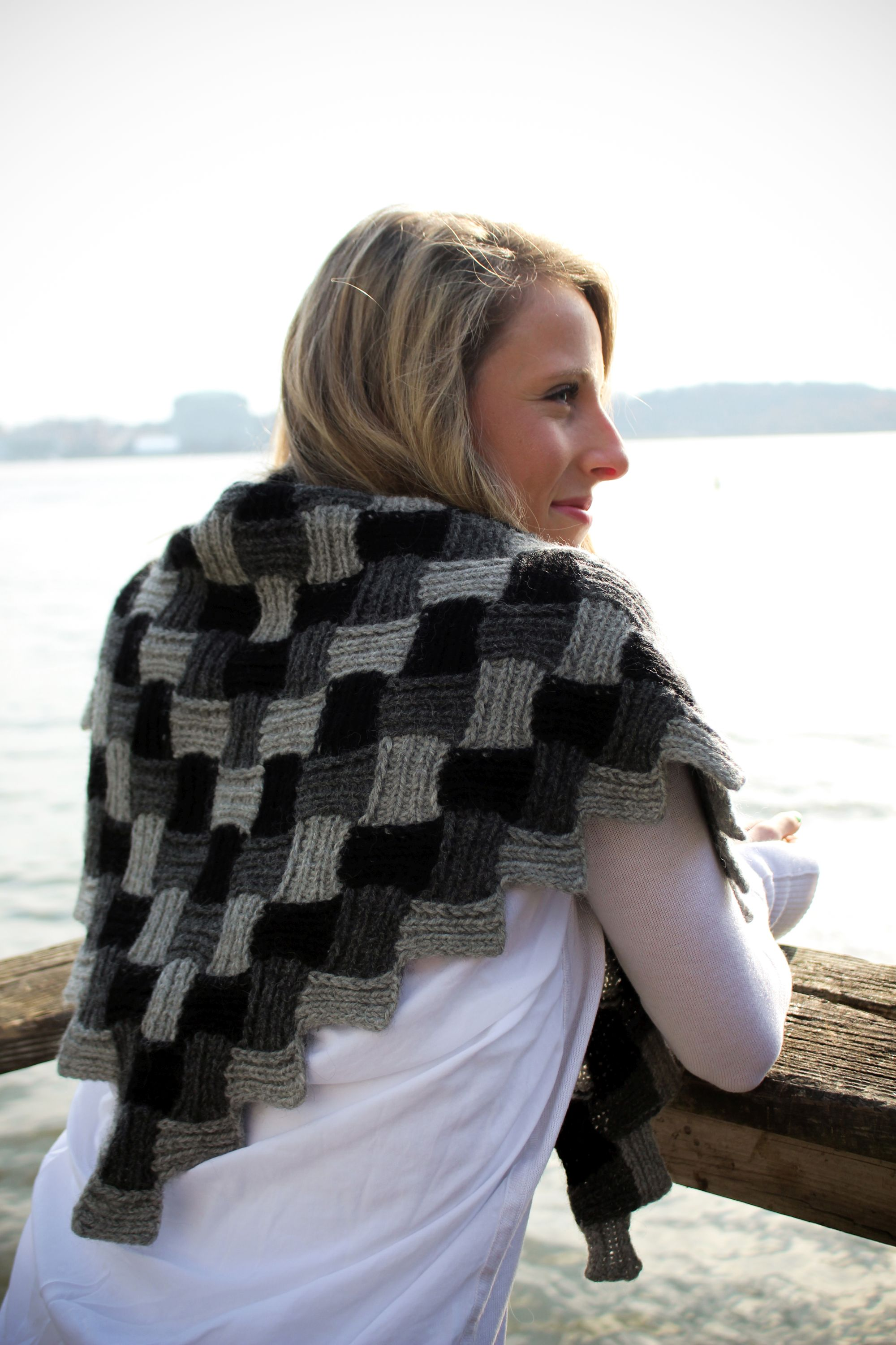 Mitered Entrelac Shawl  with Laura Barker