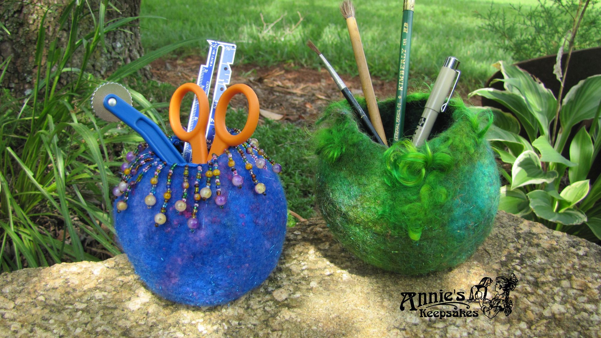 Wet-felted Vessel  with Vickie Clontz