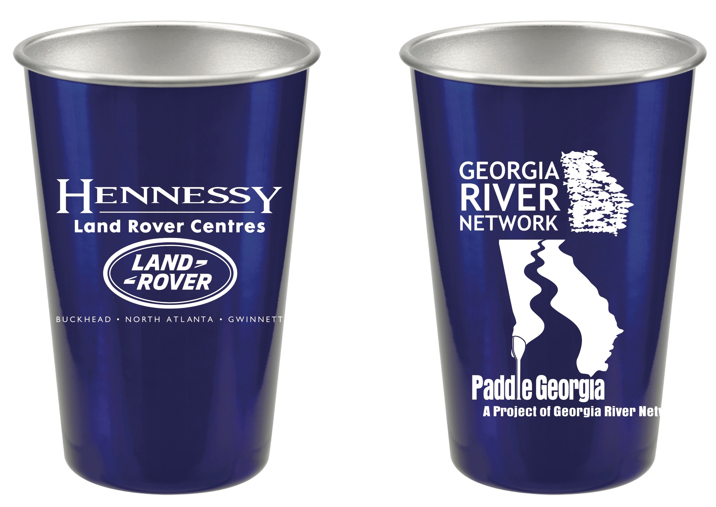 Georgia River Network-Hennessy Land Rover Pint Cups