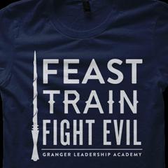 Feast Train Fight Evil Shirt