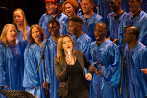 Rouchelle Liedemann performs with Origin Ministries' Cape Town Gospel Choir