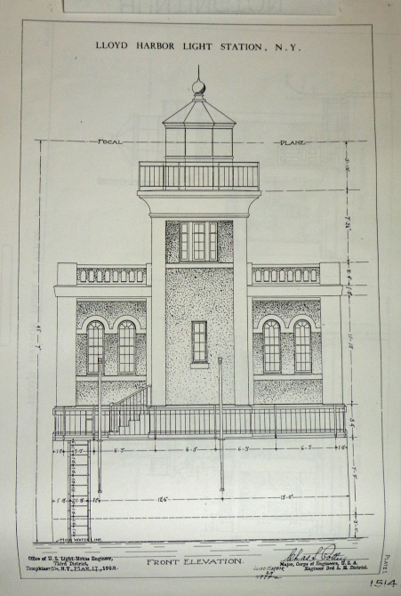 Blueprint of Lighthouse from May 1902.