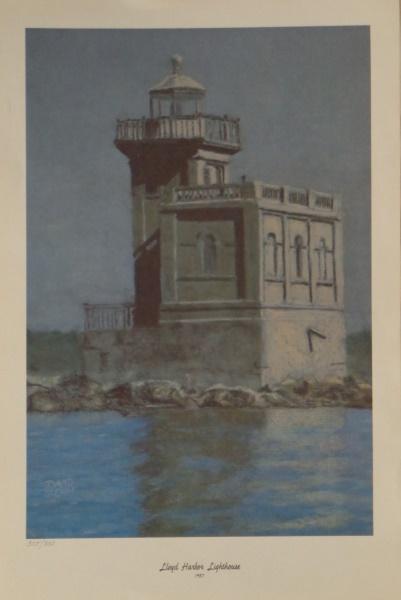 Print of Lighthouse by David Glenn