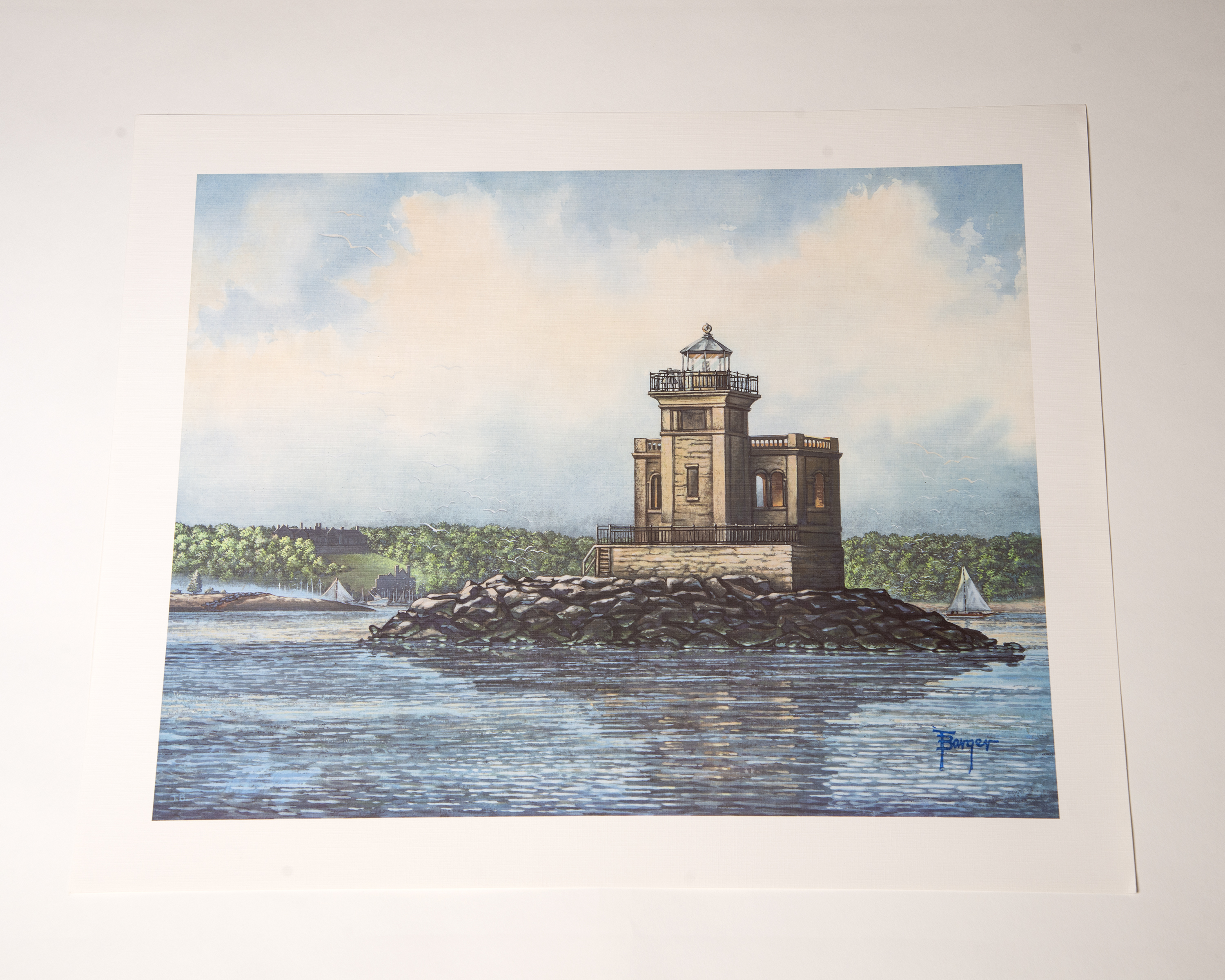 Lighthouse Print by Tom Barger