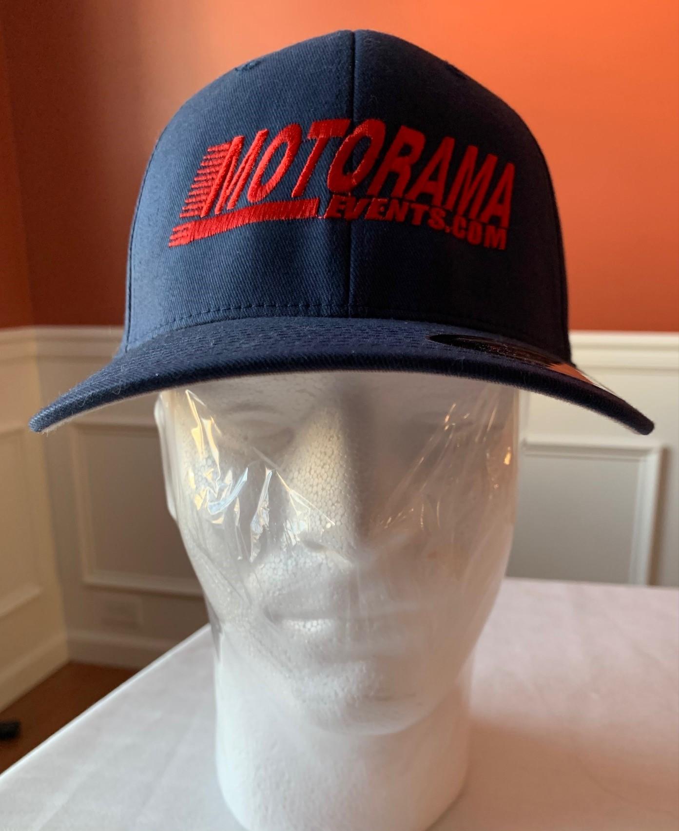 Blue Fitted Motorama Cap