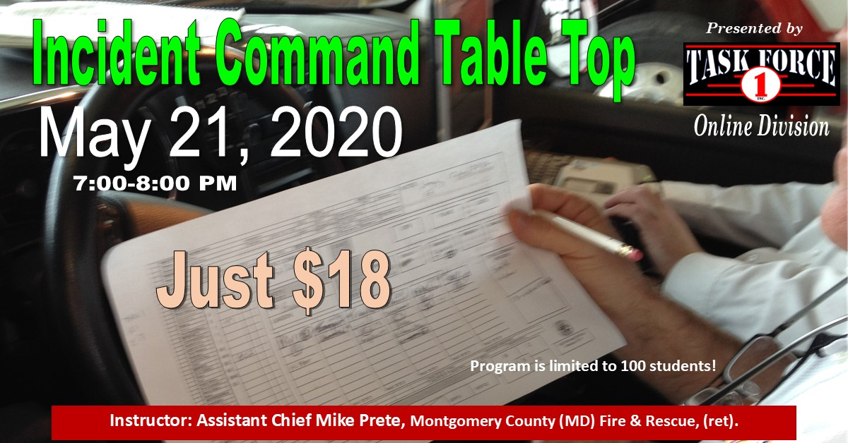 Incident Command Table Top