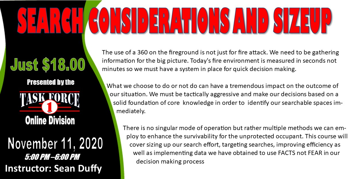 Search Considerations and Sizeup