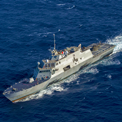 The USS Fort Worth, LCS 3