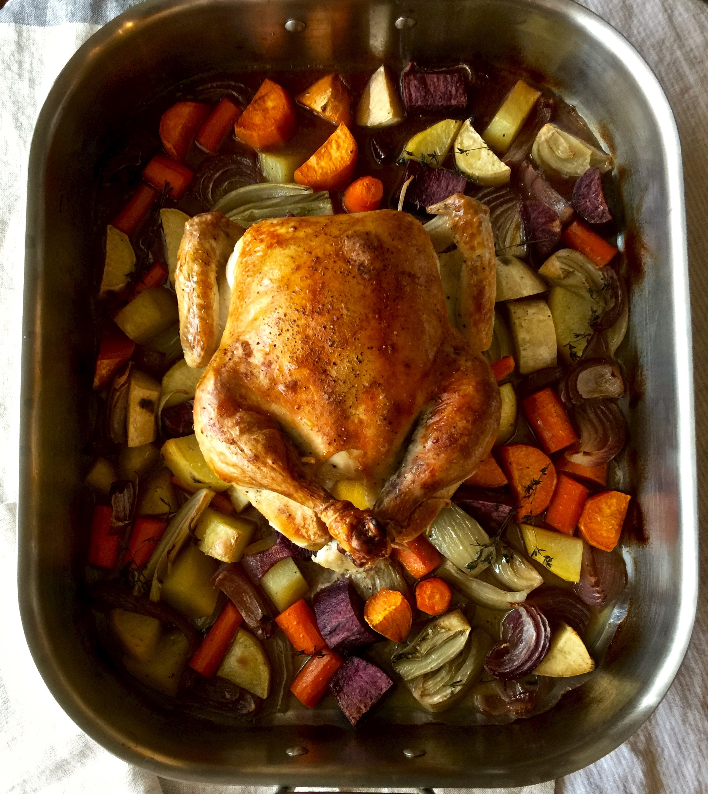 January 19 - Chicken and roasted vegetables