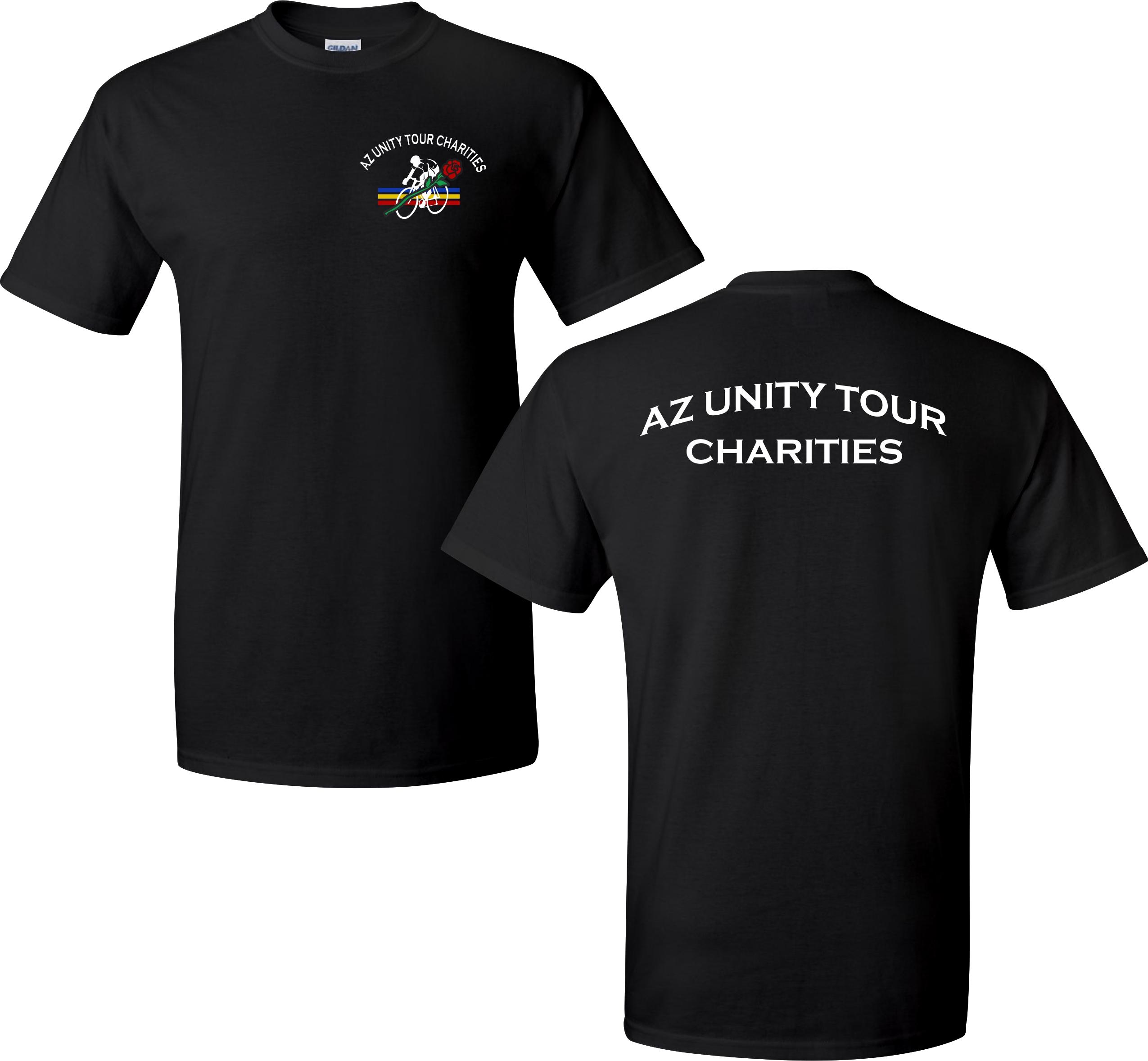 AZ Unity Tour Charities t-shirts