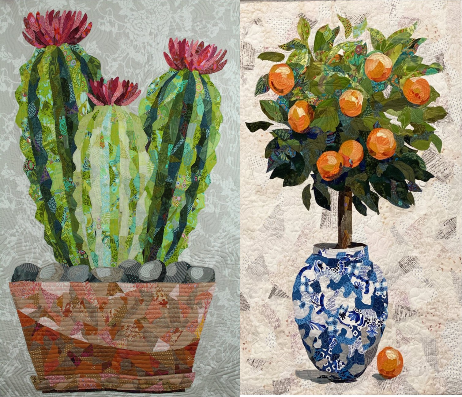 "Collage Quilting- ""Cactus"" or ""Clementine"""