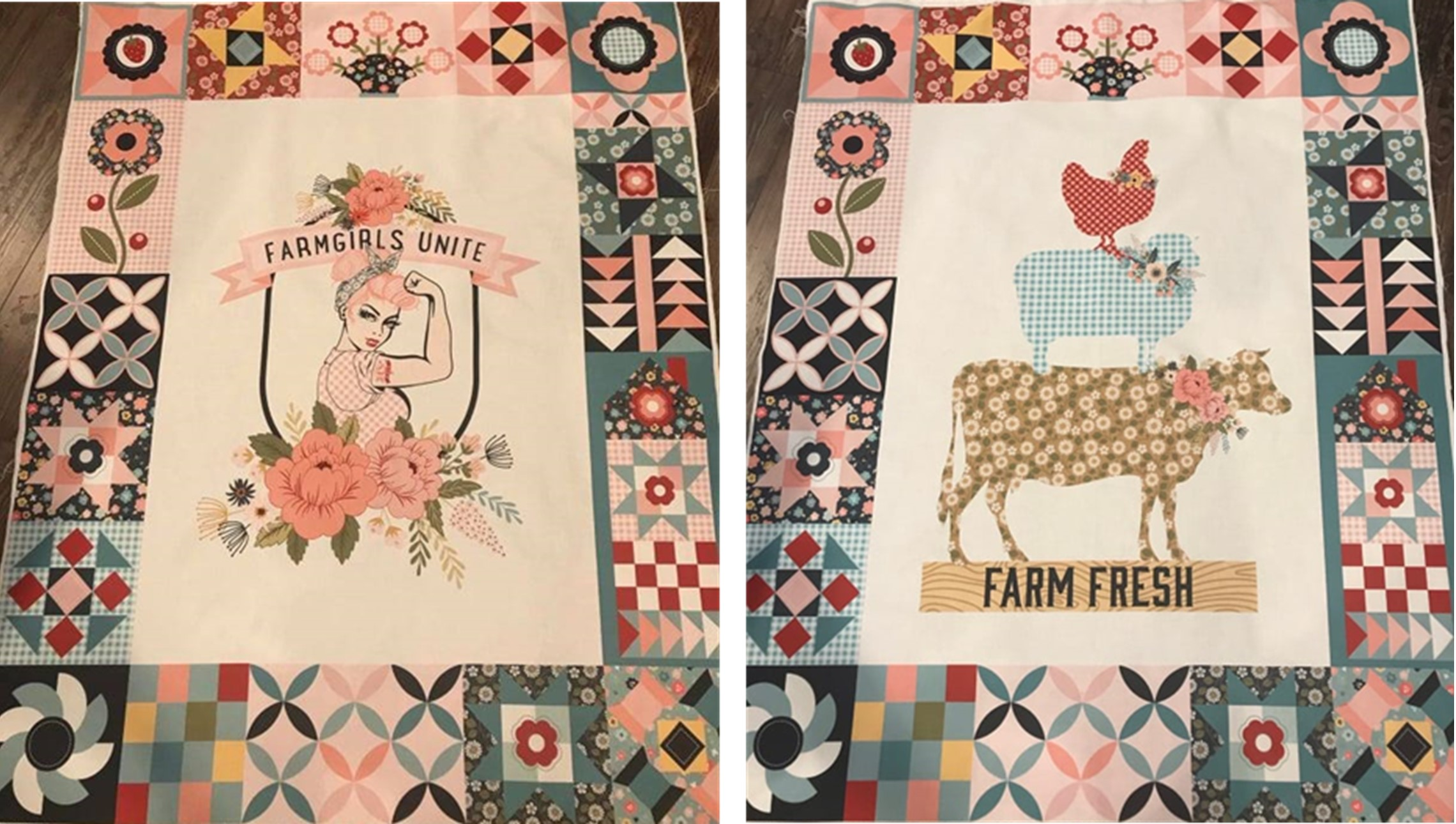 Free Motion with Poppie Cotton Quilting Panels