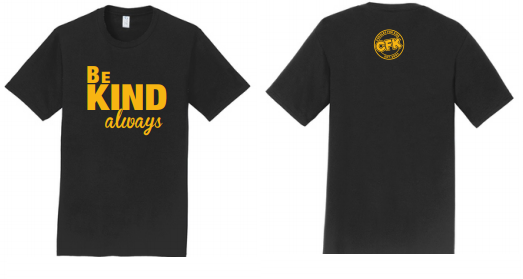 Black Short Sleeve Crew Neck Be Kind T-Shirt