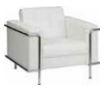 White Contemporary Club Chair