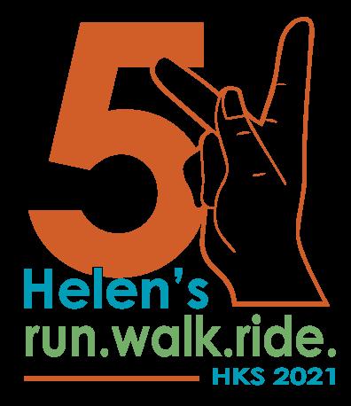 Helen Keller Service Run Walk Ride Official Logo