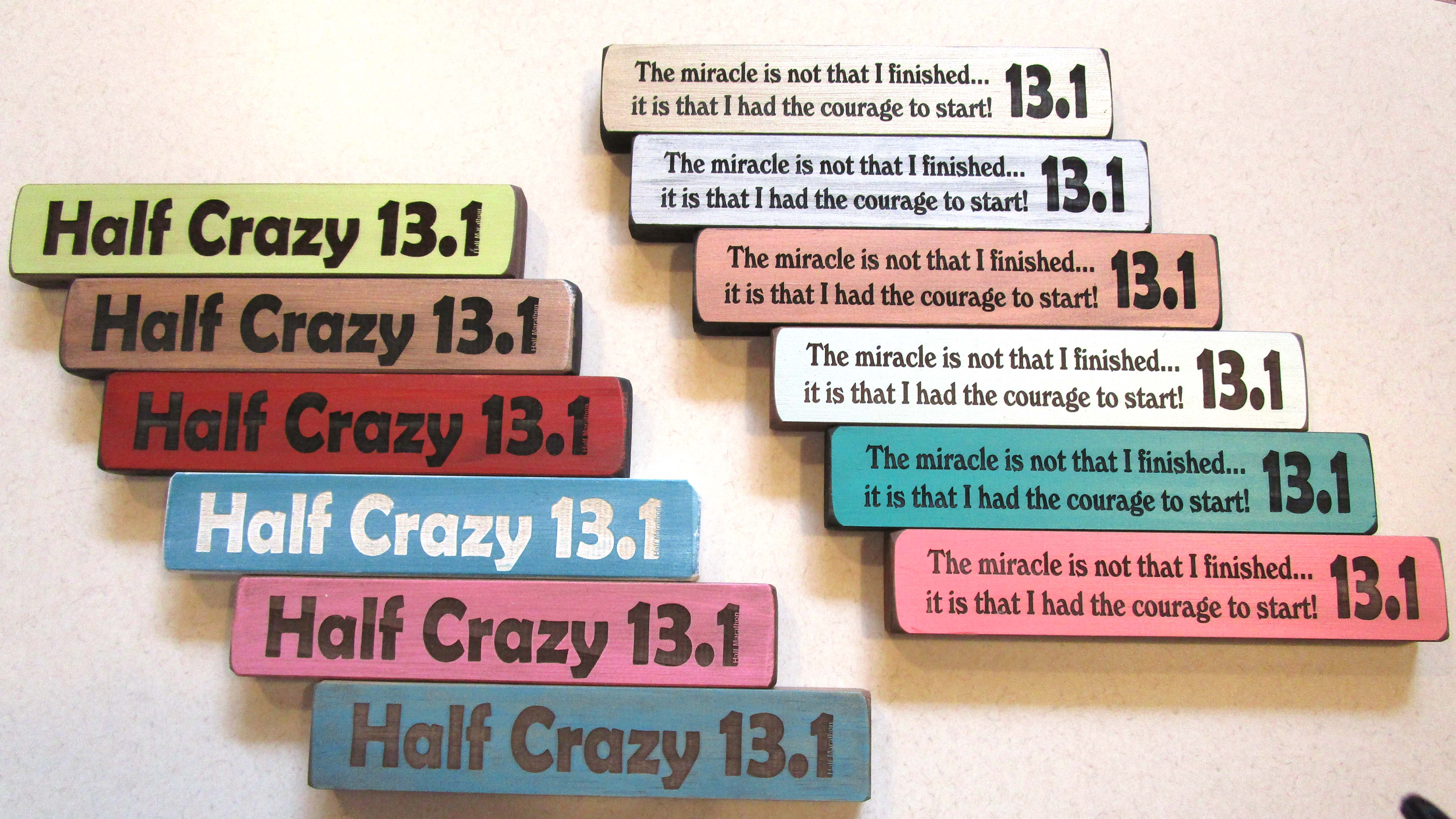 """Half Crazy 13.1"" and ""The miracle is... 13.1"""