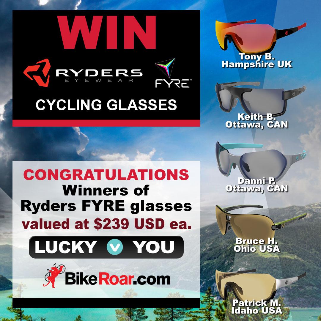 Win Ryders Eyewear antiFOG collection premium cycling glasses