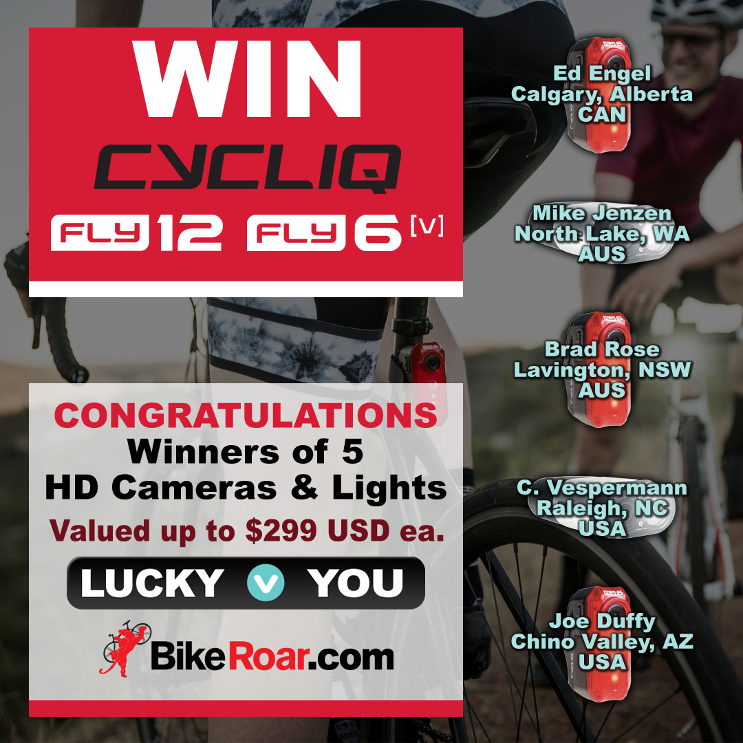 Win 1 of 5 Cycliq all-in-one HD Bike Camera and Safety Lights valued up to $299 USD each.
