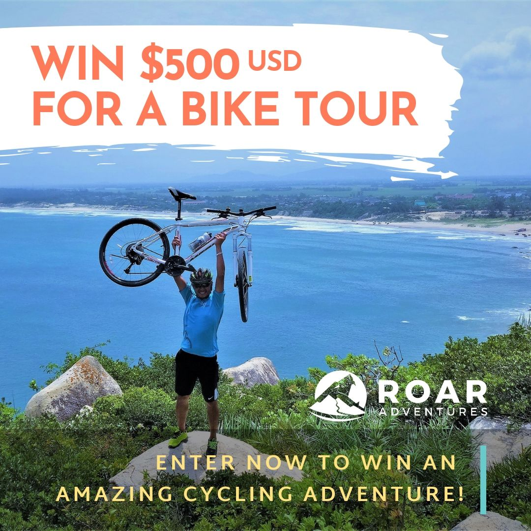 ENTER TO WIN $500 USD gift voucher towards an amazing bike tour from Roar Adventures!