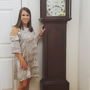 Square kristen with heirloom clock