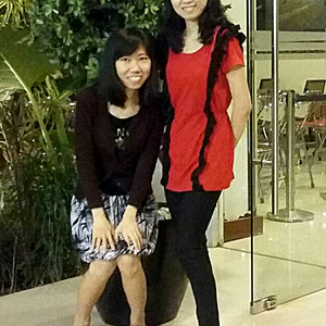 Square meliana left  linawati right