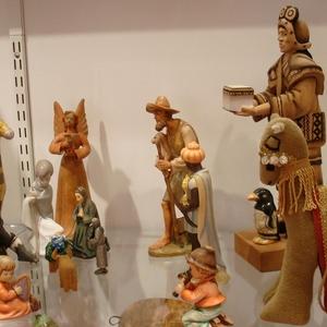 Square multicultural nativity set