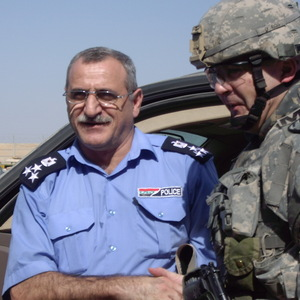 Square iraqi police chief general hameed and chad