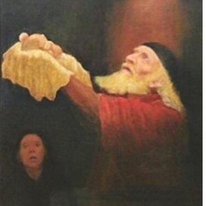Cristo niño en brazos de Simeón