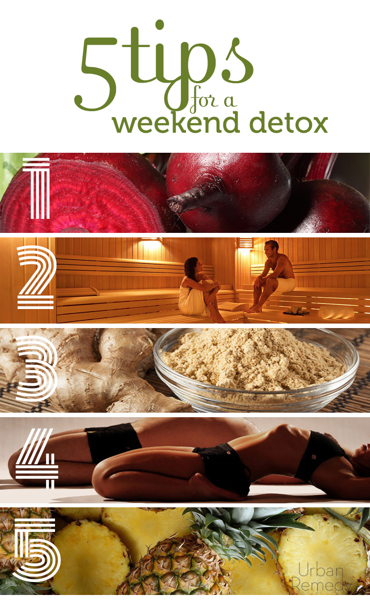 5 tips for a Weekend Detox by Urban Remedy