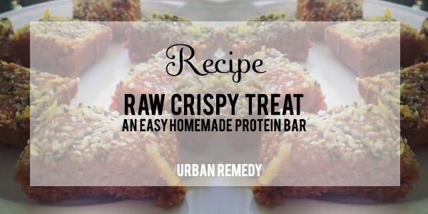 Recipe Raw Crispy Treat Protein Snack