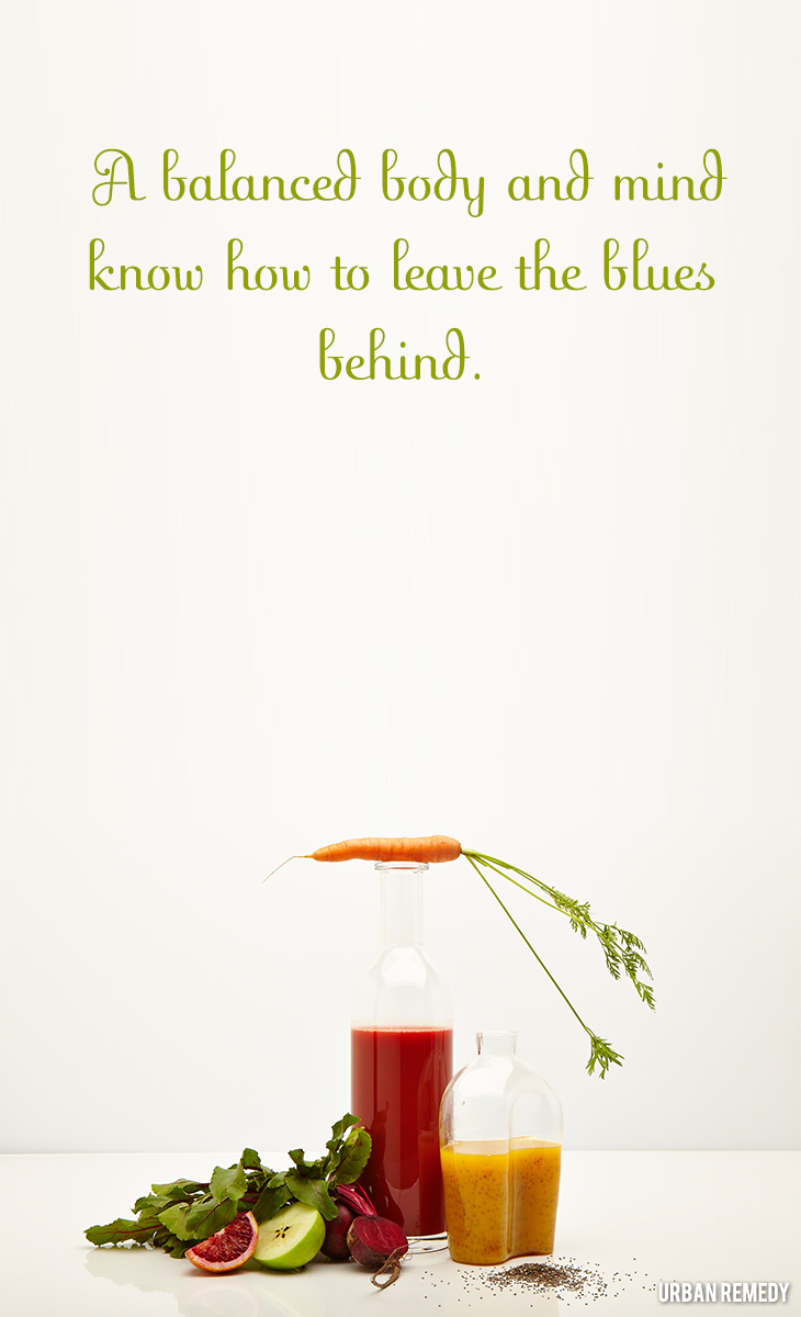 A balanced body and mind leave the blues behind eating for mental health by Urban Remedy