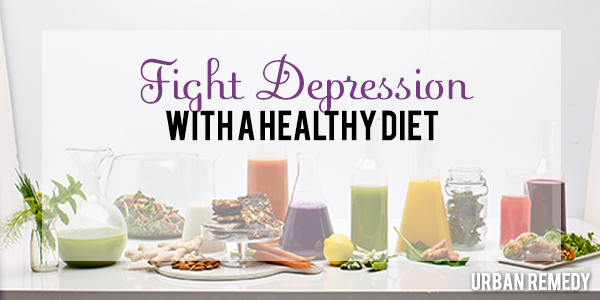 fight depression with a healthy diet by Urban Remedy