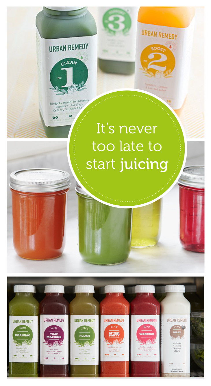 Never too late to start juicing with Urban Remedy
