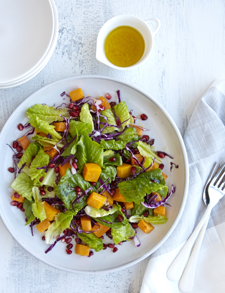 Roasted Butternut and Pomegranate Salad Recipe from the Urban Remedy Cookbook