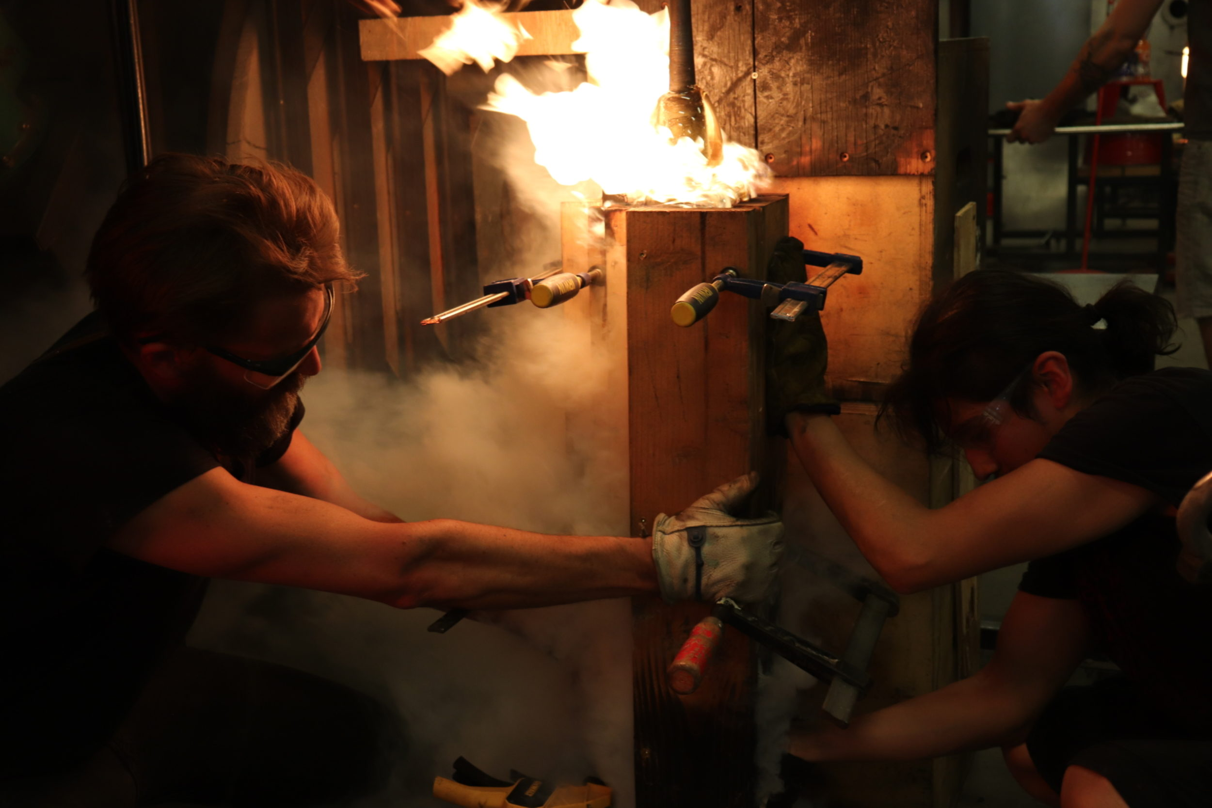 Art Jarrod Beck In The Glassblowing Studio